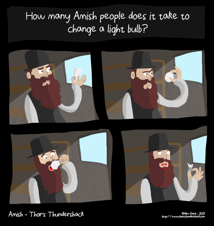 Apologies to my Amish readers... Wait, never mind.